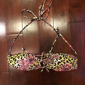 H&M Paisley Animal Print Swim Bikini Top Size XS